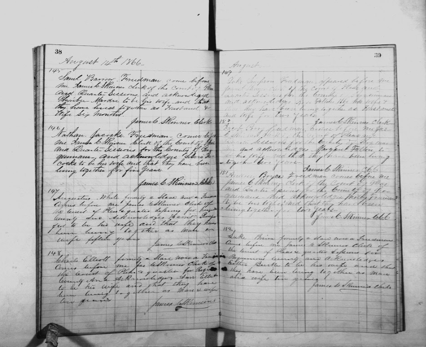 Jacob and Margaret's Marriage Record